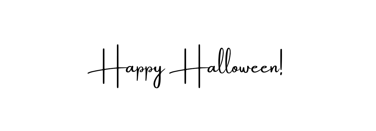 The phrase 'Happy Halloween' displayed in a font that looks like handwriting.