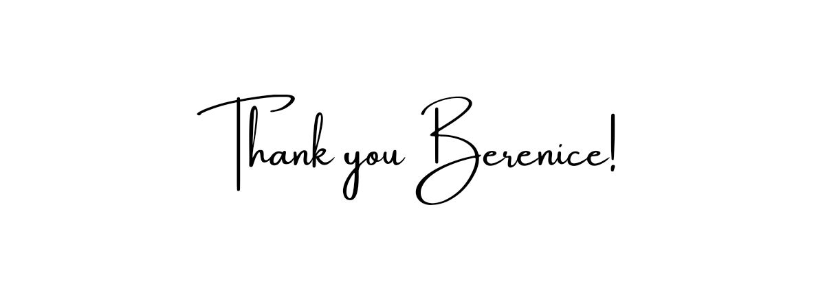 The phrase 'Thank you Berenice' displayed in a font that looks like handwriting.