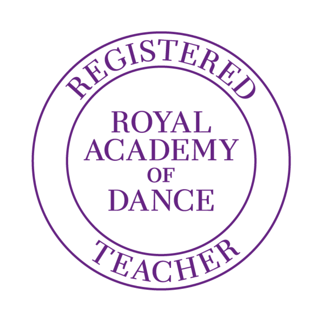 Royal Academy of Dance registered teacher logo in purple